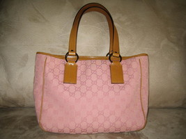 Gucci Pink Logo Canvas Tote - $550.00