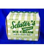 Vintage 1950s SCLATER'S ICE CREAM Pint Box Marion VA - $14.95