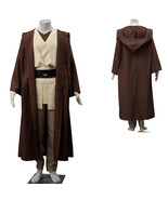Star Wars Anakin Obi-wan Kenobi Cosplay Costume Brown Outfit Full Set - $96.63