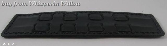 Wide black leather cuff 1