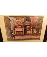 Mark St. John Cafe Vogue Rue Mazarine Paris France Framed & Matted print NF - $39.99