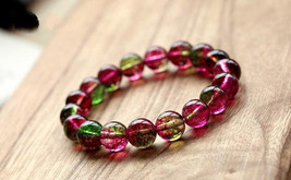 Free Shipping - Real  Watermelon tourmaline crystal  natural ice kinds of waterm - $22.99