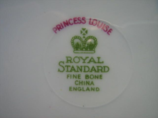 "Royal Standard English Bone China Trio - ""Princess Louise"" Pattern - 1950s"