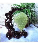 Free shipping - Vintage jade Grapes  , Natural green  jadeite jade Grape... - $108.00
