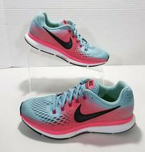 Nike Zoom Pagasus 34 Running Shoes Womens 7.5 Blue Pink White Black 8805... - $32.71