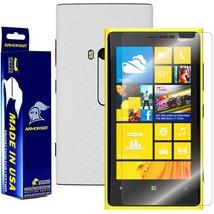 ArmorSuit MilitaryShield Nokia Lumia 920 Screen + White Carbon Fiber Skin! - $32.99