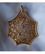 Vtg Trifari Tumbling Stars Gold-Tone Huge Pendant 1950's - $24.00