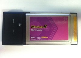 Edimax Wireless-N 802.11 b/g/n MIMO 2.4GHz 300Mbps PC Laptop Network PCMCIA - $10.00