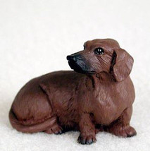 DACHSHUND (RED) TINY ONES DOG Figurine Statue Pet Lovers Resin Doxie - $8.99