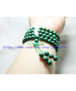 FREE SHIPPING - 6mm prayer green Malachite mala  Natural Malachite Meditation yo - $24.99