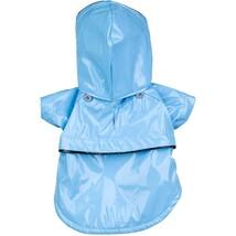 Blue PVC Waterproof Adjustable Pet Dog Raincoat Rain Coat Jacket w/ Remo... - $19.49