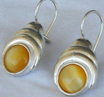 Deep yellow earrings