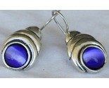 Blue cat eye earrings thumb155 crop
