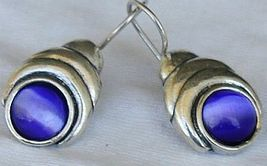 Blue cat eye earrings   - $28.00