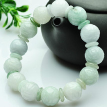 Free Shipping - A cargo of natural jade carved genuine jade bead bracele... - $29.99