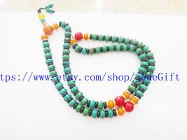 FREE SHIPPING - Natural Turquoise Meditation yoga 108 prayer beads Rosary beaded - $30.99
