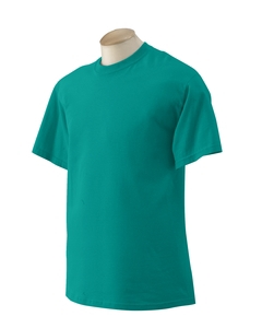 Jade Dome Green Large Gildan 200G T-shirt Preshrunk cotton 2000