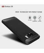 Samsung Galaxy S8 Protection Carbon Fiber Soft Cover Case Skin Bag NEW - $13.99