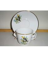 Bareuther Bavarian Bone China Cup & Saucer - Yellow Headed Blackbird - 1... - $20.00