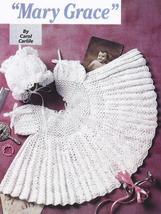 Lacy Mary Grace Baby Dress & Bonnet Crochet Pattern+ - $18.99