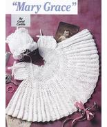 Lacy Mary Grace Baby Dress & Bonnet Crochet Pattern+ - $18.99