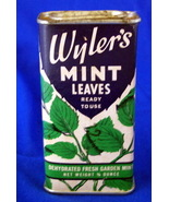 Vintage WYLER'S MINT LEAVES Container Tin Box - $12.98