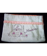 Vintage Handkerchief Holder Hankies Silky Green Peach - $9.95