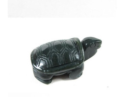Free Shipping - good luck Natural dark green jade jadeite carved Turtle charm Pe - $21.99