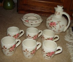 Vintage Nasco Spring Time Pitcher & Warmer Set W/ 6 Cups Floral Pattern ... - $159.00