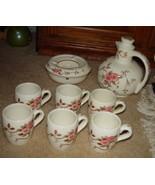 Vintage Nasco Spring Time Pitcher & Warmer Set W/ 6 Cups Floral Pattern ... - $159.00