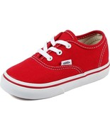 Vans Authentic Red Toddler Infant vn000ED9RED Canvas Toddler Shoes - $29.95