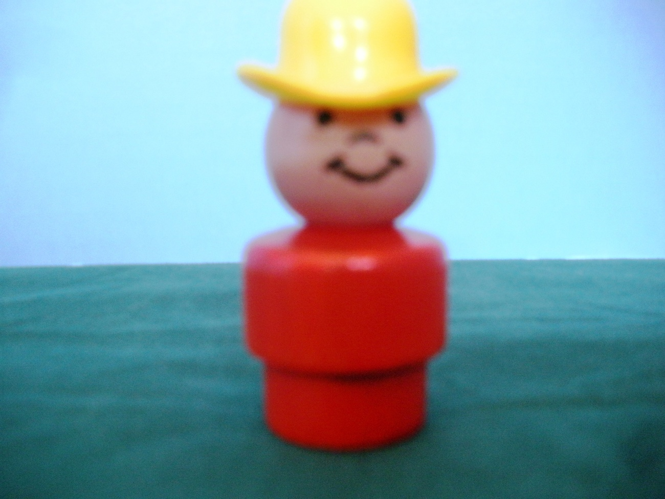 VINTAGE FISHER PRICE LITTLE PEOPLE #192 ALL WOOD RED COWBOY!