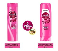 SUNSILK CO-CREATIONS SMOOTH & MANAGEABLE - SHAMPOO (320ml), CONDITIONER ... - $31.90+