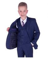 5 Piece Boys Blue Suit Boys Wedding Suit Page Boy Suit Party Prom 2-12 Y... - $30.00+