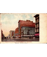 RARE UDB POSTCARD-WASHINGTON ST.LOOKING WEST FROM MERIDIAN ST. INDIANAPO... - $5.88