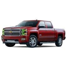 FLASHTECH for Chevrolet Silverado 14-15 Green Single Color LED Halo Ring... - $185.22