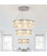 Modern Crystal Ceiling Lighting Fixture Crystal Chandelier for Living Ro... - $463.27