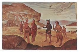 Arrival of George Washington at Mckees Rocks PA Painting Vintage Postcard - $9.95