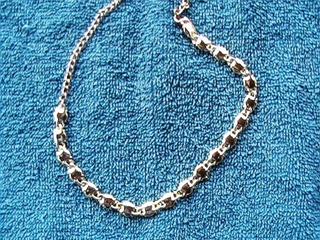 "Vintage 16"" necklace with stones"
