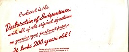 Declaration Of Independence - Copy on Parchment and Book - $5.95