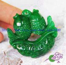 Free Shipping - Natural green jadeite jade , Natural Green jadeite jade carved t - $29.99