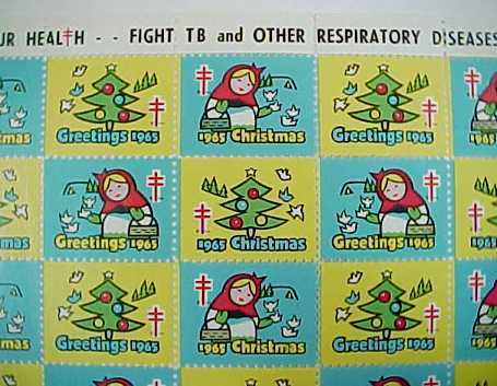 1965 Christmas Seals - American Lung Association