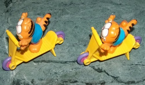 Vintage Garfield on Scooter Set of Two