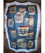 Vintage KAY DEE Linen Towel Early American Stoneware - $19.95