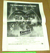 Star Wars 1980 The Empire Strikes Back Large Pressbook Advertisement Sup... - $50.00