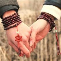 Free Shipping - 6mm Tibetan Buddhism Natural red sandalwood meditation yoga 216  - $18.00