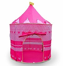 Pink Princess Castle Tent Portable Play Tent For Girls Indoor Outdoor Us... - $47.59