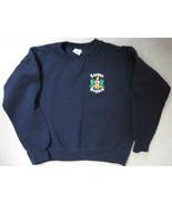 London England Souvenir Sweatshirt Navy Embroidered Medium - $18.00