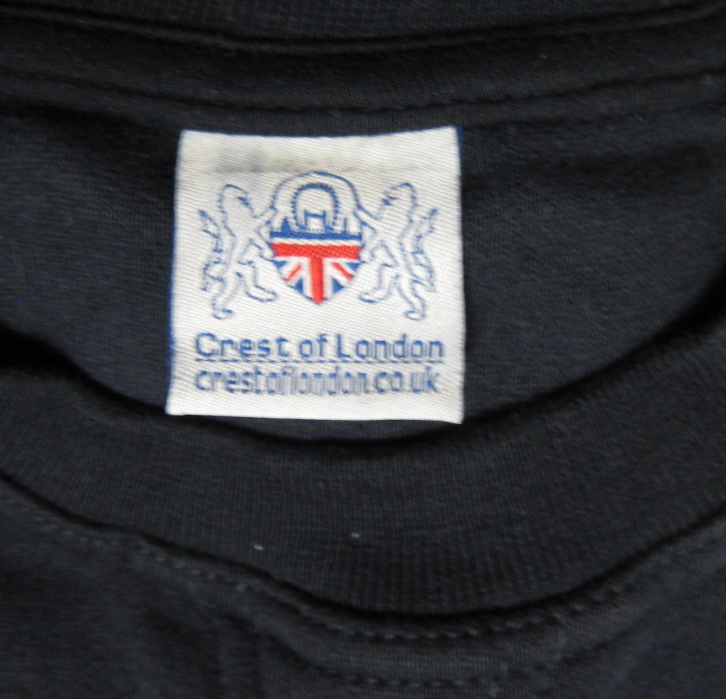 London England Souvenir Sweatshirt Navy Embroidered Medium