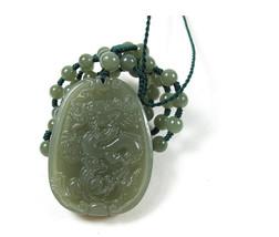 Free Shipping - Amulet Natural green jade Dragon Natural Green jadeite jade Carv - $29.99